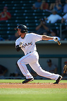 Mesa Solar Sox second baseman Elliot Soto (2) at bat during an Arizona Fall League game against the Glendale Desert Dogs on October 14, 2015 at Sloan Park in Mesa, Arizona.  Glendale defeated Mesa 7-6.  (Mike Janes/Four Seam Images)