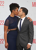WESTWOOD, CA - AUGUST 9: Nemuna Ceesay, Carlo Alban, at Premiere Of STX Films' &quot;Mile 22&quot; at The Regency Village Theatre in Westwood, California on August 9, 2018.<br /> CAP/MPIFS<br /> &copy;MPIFS/Capital Pictures