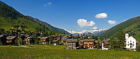 Switzerland, Canton Valais, Reckingen at valley Goms with parish church