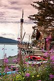 USA, Alaska, Homer, China Poot Bay, Kachemak Bay, view of the grounds at Kachemak Bay Wilderness Lodge