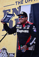 Sept. 14, 2012; Concord, NC, USA: NHRA funny car driver Cruz Pedregon during qualifying for the O'Reilly Auto Parts Nationals at zMax Dragway. Mandatory Credit: Mark J. Rebilas-