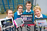 Pictured at Mercy Mounthawk Secondary School Tralee as they have started a new initiative to use their tablets and laptops for class work were l-r: Amber Flood, Veronica Heaslip, Zygi Leos and Emma Leahy.