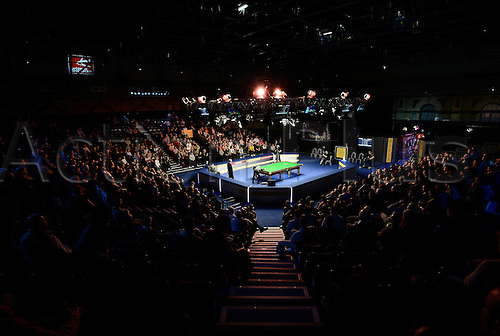 17.01.2013 London, England. Neil Robertson in action against Mark Allen during the Masters Snooker from Alexandra Palace...