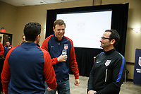 Bradenton, FL : Dave Van Der Bergh speaks to US Soccer colleagues before a presentation in Bradenton, Fla., on January 4, 2018. (Photo by Casey Brooke Lawson)