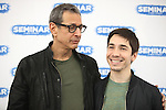 Jeff Goldblum & Justin Long.attending the 'SEMINAR' Come Meet The New Broadway Cast at the Roundabout Reharsal Studios in New York on 3/28/2012 © Walter McBride/WM Photography