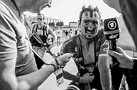 John Degenkolb (DEU/Trek-Segafredo) post race interview<br /> <br /> 115th Paris-Roubaix 2017 (1.UWT)<br /> One day race: Compi&egrave;gne &gt; Roubaix (257km)