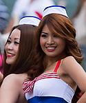 Action on Day 1 of the Cathay Pacific / HSBC Hong Kong Sevens 2013 at Hong Kong Stadium, Hong Kong. Photo by Aitor Alcalde / The Power of Sport Images