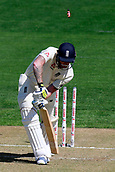 22nd March 2018, Eden Park, Auckland, New Zealand; International Test Cricket, New Zealand versus England, day 1;  Ben Stokes is bowled by Trent Boult