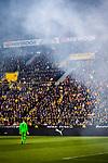 11.05.2019, Signal Iduna Park, Dortmund, GER, 1.FBL, Borussia Dortmund vs Fortuna Düsseldorf, DFL REGULATIONS PROHIBIT ANY USE OF PHOTOGRAPHS AS IMAGE SEQUENCES AND/OR QUASI-VIDEO<br /> <br /> im Bild | picture shows:<br /> Michael Rensing (Fortuna #1) im Pyronebel kurz nach Anstoss, <br /> <br /> Foto © nordphoto / Rauch