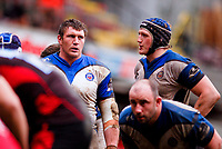 Peter Short looks on during a break in play. Guinness Premiership match between Saracens and Bath on February 28, 2010 at Vicarage Road in Watford, England. [Mandatory Credit: Patrick Khachfe/Onside Images]