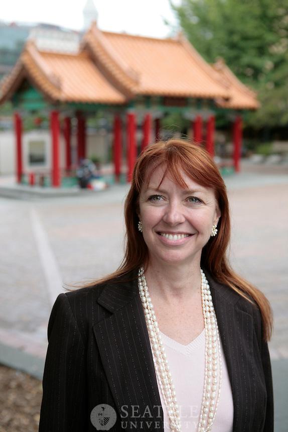 09132010- Seattle University's Associate Provost for Global Engagement, Victoria Jones in Seattle's International district.