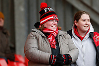 A Fleetwood Town FC fan during the Sky Bet League 1 match between Charlton Athletic and Fleetwood Town at The Valley, London, England on 17 March 2018. Photo by Carlton Myrie.