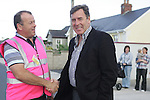 Packie Bonner with Oliver Smyth at the Prawn Parade in Clogherhead....Photo NEWSFILE/Jenny Matthews.(Photo credit should read Jenny Matthews/NEWSFILE)....This Picture has been sent you under the condtions enclosed by:.Newsfile Ltd..The Studio,.Millmount Abbey,.Drogheda,.Co Meath..Ireland..Tel: +353(0)41-9871240.Fax: +353(0)41-9871260.GSM: +353(0)86-2500958.email: pictures@newsfile.ie.www.newsfile.ie.FTP: 193.120.102.198.