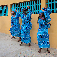 Dancers Welcoming Visitors to the Opening Ceremony of the Biannual Arts Festival (Regards sur Cours), Goree Island, Senegal.