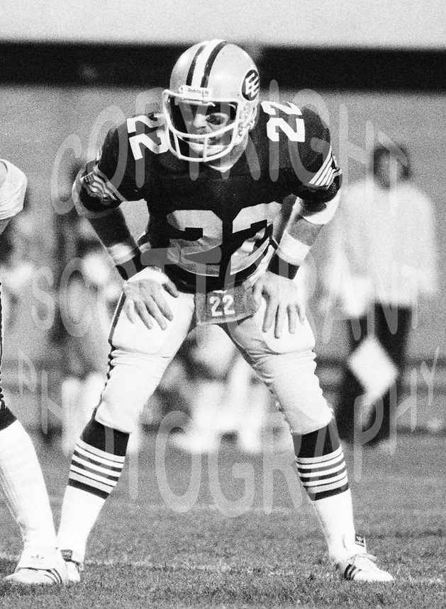 Tom Scott Edmonton Eskimos 1983. Copyright photograph Scott Grant