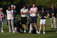 Shannon Burke (IRL) playing with Brooks Koepka (USA) during the Pro-Am of the Abu Dhabi HSBC Championship 2020 at the Abu Dhabi Golf Club, Abu Dhabi, United Arab Emirates. 15/01/2020<br /> Picture: Golffile | Thos Caffrey<br /> <br /> <br /> All photo usage must carry mandatory copyright credit (© Golffile | Thos Caffrey)