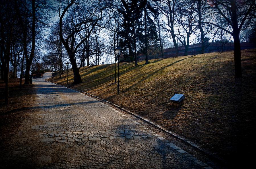 Photo of Park Spilberk in Brno, the Czech Republic. This is a famous park that access Castle Spilberk
