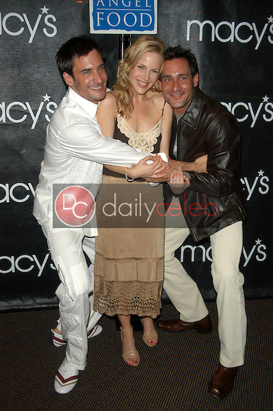 Lawrence and Gregory Zarian with Julie Benz