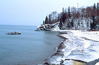 Winter at the North Shore of Lake Superior.  Lutsen Minnesota USA