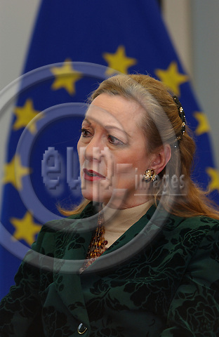 BRUSSELS, BELGIUM - NOV-26-2004 - Benita Ferrero Waldner , European Commissioner of External Affairs from Austria...
