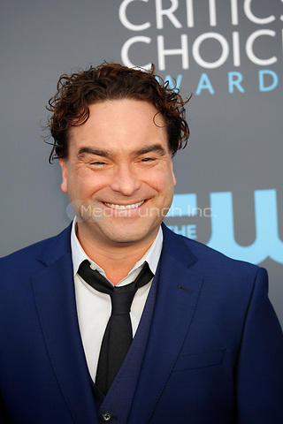 Johnny Galecki attends the 23rd Annual Critics' Choice Awards at Barker Hangar in Santa Monica, Los Angeles, USA, on 11 January 2018. Photo: Hubert Boesl - NO WIRE SERVICE - Photo: Hubert Boesl/dpa /MediaPunch ***FOR USA ONLY***