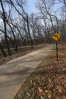 NWA Democrat-Gazette/FLIP PUTTHOFF<br />A sweeping curve seen Wednesday Feb. 14 2018 on the Trail of Two Cities. The trail runs between Rogers and Bentonville.
