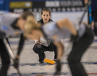 Glasgow. SCOTLAND.  Russian vice skip, Uliana VASILEVA  during  the &quot;Round Robin&quot; Game.  Scotland vs Russia,  Le Gruy&egrave;re European Curling Championships. 2016 Venue, Braehead  Scotland<br /> Thursday  24/11/2016<br /> <br /> [Mandatory Credit; Peter Spurrier/Intersport-images]