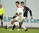 26/12/2004  Copyright Pic : James Stewart.File Name : jspa13_falkirk_v_airdrie.PEDRO MOUTINHO TRIES TO GET PAST STEPHEN DOCHERTY....Payments to :.James Stewart Photo Agency 19 Carronlea Drive, Falkirk. FK2 8DN      Vat Reg No. 607 6932 25.Office     : +44 (0)1324 570906     .Mobile   : +44 (0)7721 416997.Fax         : +44 (0)1324 570906.E-mail  :  jim@jspa.co.uk.If you require further information then contact Jim Stewart on any of the numbers above.........