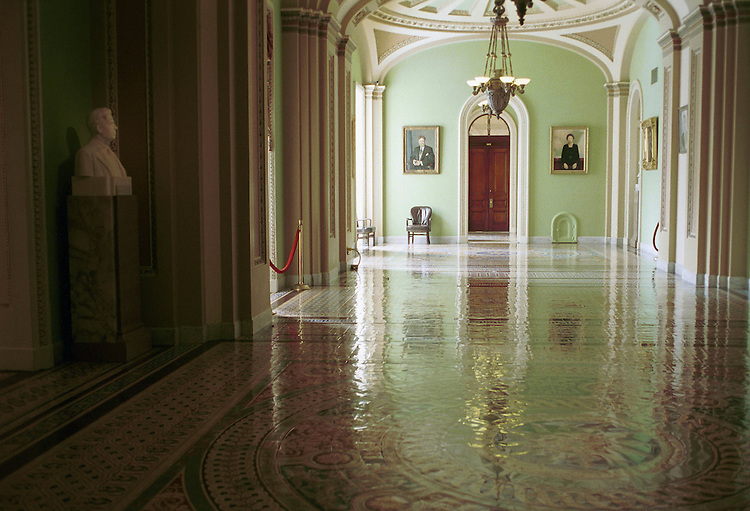3/10/99.OHIO CLOCK CORRIDOR, U.S. CAPITOL BUILDING.CONGRESSIONAL QUARTERLY PHOTO BY DOUGLAS GRAHAM