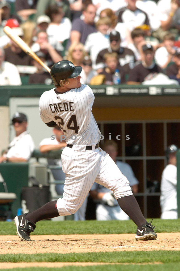 Joe Crede, of the Chicago White Sox, during their game against the Minnesota Twins on April 23, 2006 in Chicago...Sox  win 7-3..David Durochik / SportPics