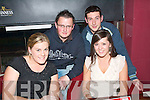 QUIZ BUFFS: Laura O'Keeffe, John Fitzgerald, Brendan Poff and Emma Sugrue, all from Tralee who took part in the Rock St/Caherslee community games fundraising quiz in O'Donnell's bar on Thursday night.   Copyright Kerry's Eye 2008