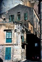 Apartment building in the Ortygia section of Syracusa, Sicily, Italy