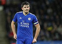 Leicester City 's Harry Maguire<br /> <br /> Photographer Andrew Kearns/CameraSport<br /> <br /> English League Cup - Carabao Cup Quarter Final - Leicester City v Manchester City - Tuesday 18th December 2018 - King Power Stadium - Leicester<br />  <br /> World Copyright © 2018 CameraSport. All rights reserved. 43 Linden Ave. Countesthorpe. Leicester. England. LE8 5PG - Tel: +44 (0) 116 277 4147 - admin@camerasport.com - www.camerasport.com