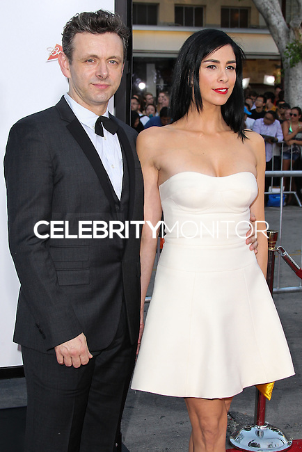 """WESTWOOD, LOS ANGELES, CA, USA - MAY 15: Michael Sheen, Sarah Silverman at the Los Angeles Premiere Of Universal Pictures And MRC's """"A Million Ways To Die In The West"""" held at the Regency Village Theatre on May 15, 2014 in Westwood, Los Angeles, California, United States. (Photo by Xavier Collin/Celebrity Monitor)"""