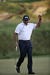 Phil Mickelson (USA),<br /> June 15, 2013 - Golf :<br /> Phil Mickelson of United States celebrates on 17th hole during the third round of the U.S. Open Championship at the Merion Golf Club, East course in Haverford Township, Delaware Country, Pennsylvania. (Photo by Koji Aoki/AFLO SPORT) [0008]