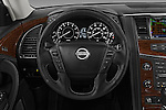 Car pictures of steering wheel view of a 2017 Nissan Armada Platinum 5 Door SUV Steering Wheel