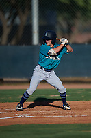 AZL Mariners Cody Grosse (6) at bat during an Arizona League game against the AZL D-backs on July 3, 2019 at Salt River Fields at Talking Stick in Scottsdale, Arizona. The AZL D-backs defeated the AZL Mariners 3-1. (Zachary Lucy/Four Seam Images)