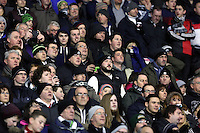 Pictured: Swansea supporters Sunday 01 February 2015<br /> Re: Premier League Southampton v Swansea City FC at ST Mary's Ground, Southampton, UK.