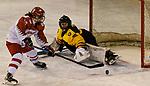 04.01.2020, BLZ Arena, Füssen / Fuessen, GER, IIHF Ice Hockey U18 Women's World Championship DIV I Group A, <br /> Deutschland (GER) vs Daenemark (DEN), im Bild Sofia Skriver (DEN, #18) scheitert an Sofie Disl (GER, #20)<br /> <br /> Foto © nordphoto / Hafner