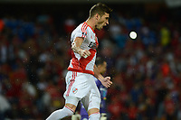 MEDELLÍN -COLOMBIA-15-03-2017. Lucas Alario jugador de River celebra el primer gol anotado al Medellin, durante partido de la fase de grupos, grupo 3, fecha 1 entre Deportivo Independiente Medellin de Colombia y River Plate de Argentina por la Copa Conmebol Libertadores Bridgestone 2017 en el Estadio Atanasio Girardot, de la ciudad de Medellin. / Lucas Alario player of River celebrates the first goal scored to Medellin during a match for the group stage, group 3 of the date 1, between Deportivo Independiente Medellin of Colombia and River Plate of Argentina for the Conmebol Libertadores Bridgestone Cup 2017, at the Atanasio Girardot, Stadium, in Medellin city. Photo: VizzorImage/ Leon Monsalve /Cont