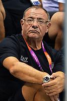 Stefano Morini Allenatore di Gregorio Paltrinieri<br /> London 3/8/2012 Aquatics Center<br /> London 2012 Olympic games - Olimpiadi Londra 2012<br /> Swimming - Nuoto<br /> Foto Andrea Staccioli Insidefoto