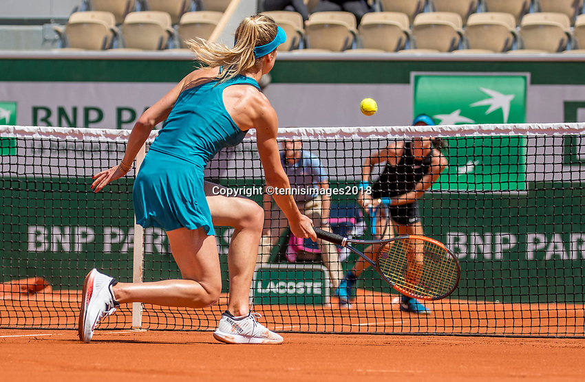 Paris, France, 27 May, 2018, Tennis, French Open, Roland Garros, Match between  AljaTomljanovic (AUS) background and Elina Svitolina (UKR)<br /> Photo: Henk Koster/tennisimages.com
