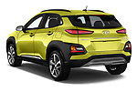 Car pictures of rear three quarter view of a 2019 Hyundai Kona Limited DCT 5 Door SUV angular rear