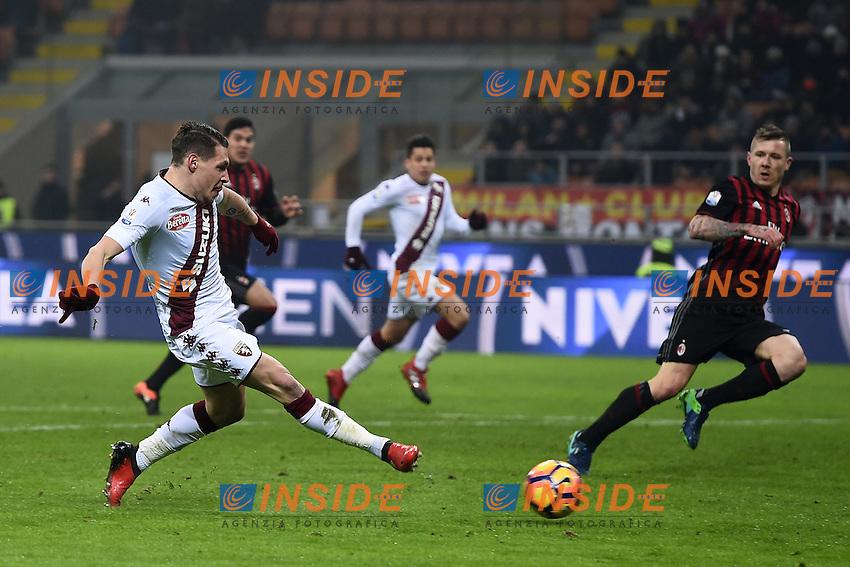 gol Andrea Belotti Torino Celebration goal<br /> Milano 12-01-2017 Stadio Giuseppe Meazza - Football Calcio Coppa Italia Milan - Torino. Foto Image Sport / Insidefoto