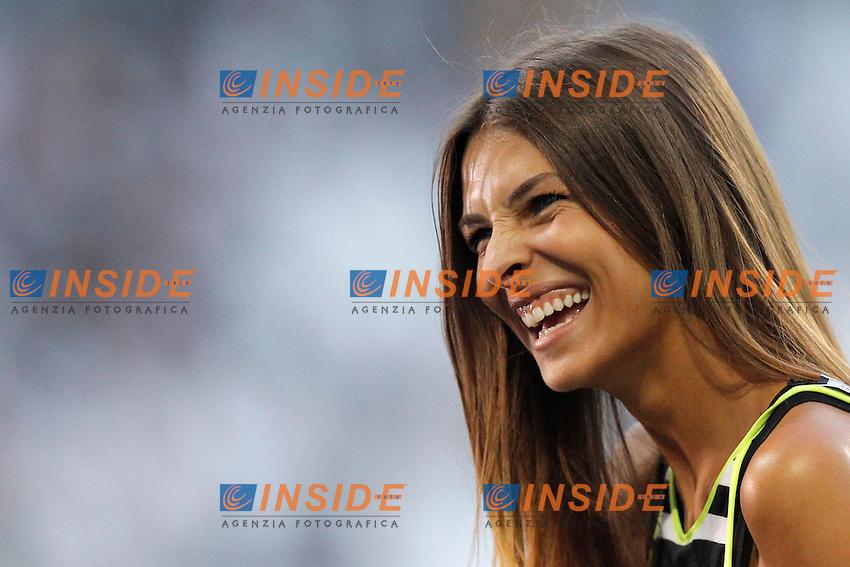 Cristina Chiabotto,<br /> Torino 31-08-2013<br /> Juventus Stadium <br /> Football Calcio 2013/2014 Serie A <br /> Juventus - Lazio <br /> Foto Marco Bertorello Insidefoto