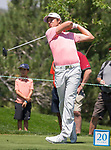 Aaron Baddeley swings during the Barracuda Golf Championship at Montreux on Sunday, August 5, 2018.