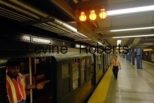 Circa 1940 subway train on special anniversary trip on September 10, 2007. (© Richard B. Levine)