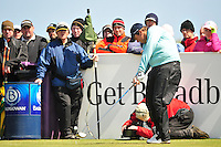 Shane Lowry tees off on the 9th hole during the Final Round of the 3 Irish Open on 17th May 2009 (Photo by Eoin Clarke/GOLFFILE)