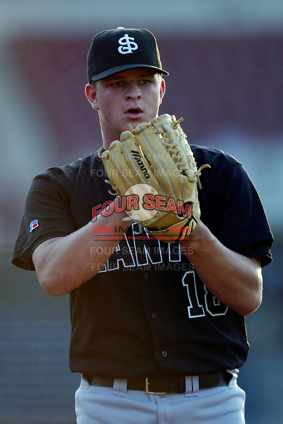 April 26 2004: Matt Cain of the San Jose Giants in action against the Rancho Cucamonga Quakes at The Epicenter in Rancho Cucamonga,CA.  Photo by Larry Goren/Four Seam Images