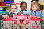 St. John's Parochial School Junior Infants on Wednesday: Emma Tarrant, Hanna Aladesanusi, Amerah Gibson.